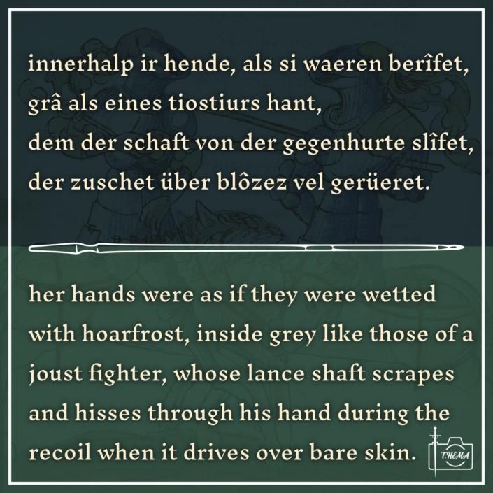 Textauszug aus Wolfram von Eschenbachs Willehalm