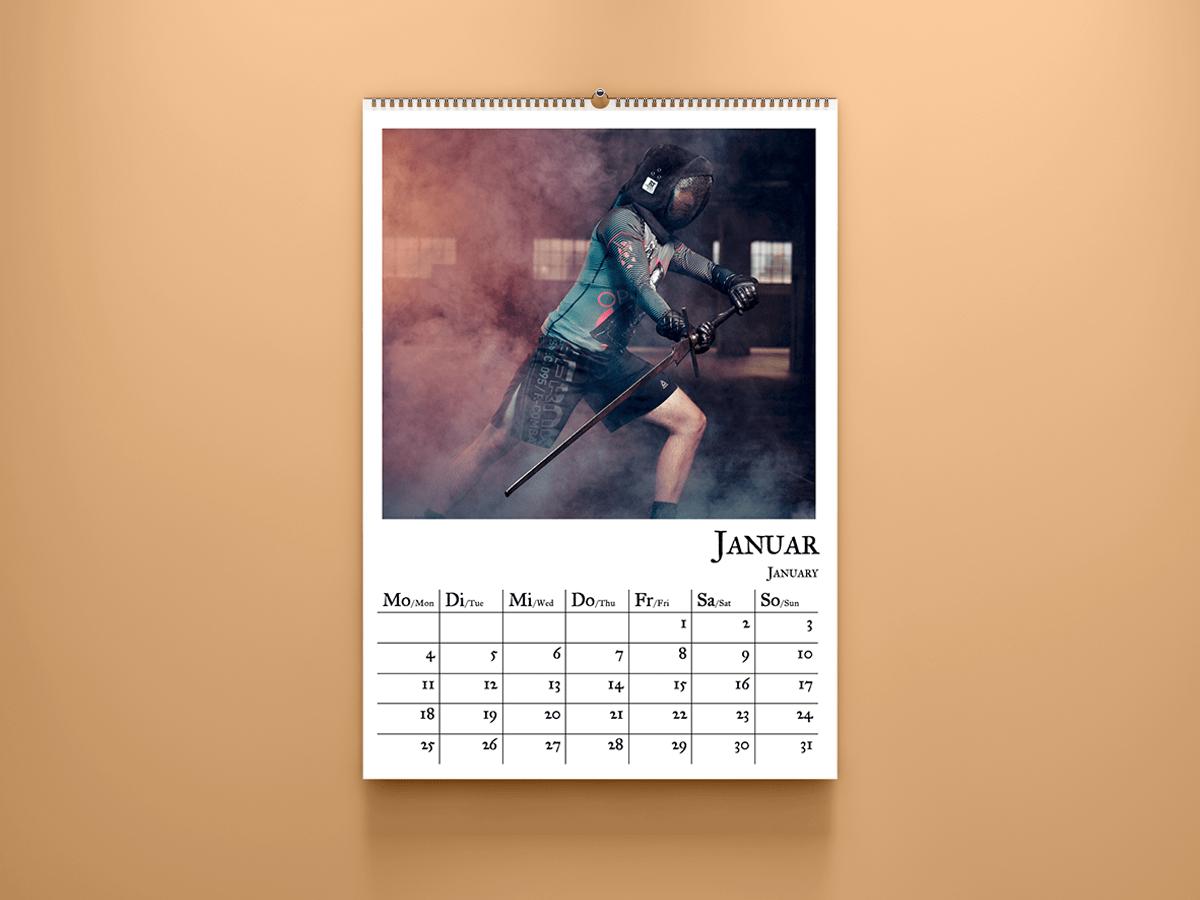 historical fencing calendar 2021